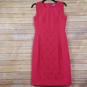 Antonio Melani| Pink Lace Inset Sheath Dress sz 4